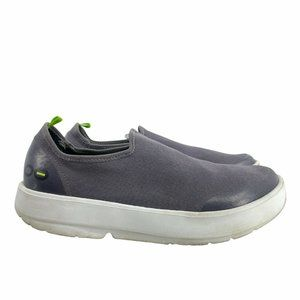 Oofos Women's OOmg Fibre Shoes Gray Size 11 Closed-Cell Foam Slip-On Comfort